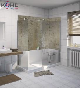 Badsanierung mit fugenloser Dusche