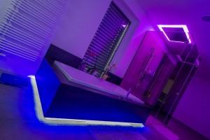 Indirekte Beleuchtung mit LED Strefen