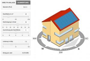Solarstromrechner für PV-Anlagen