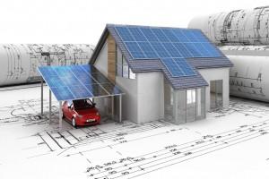 Solaranlage / Photovoltaik Anlagenbau mit Stromgewinnung