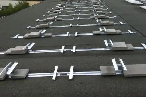 Halterungen für PV-Module auf einem Flachdach