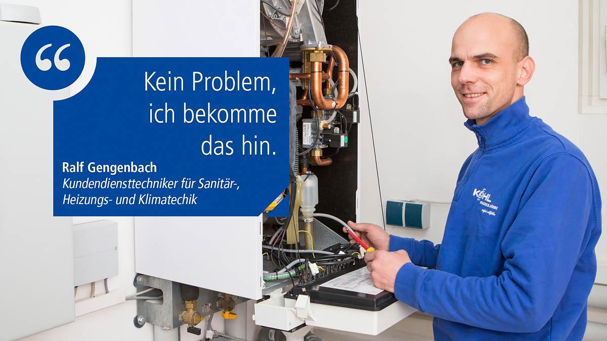 Kundendienstmonteur für Heizung und Sanitär