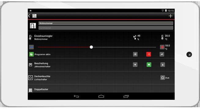 Vitocomfort APP - Screenshot