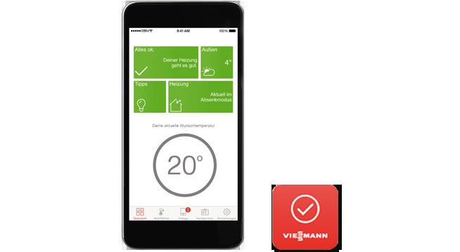Heizungssteuerung mit der ViCare App