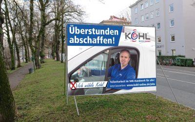 Kohl tritt zur Job-Wahl an!
