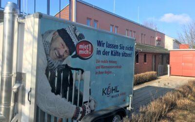 schnelle Hilfe durch mobile Heizzentrale im Kindergarten Arche Noah